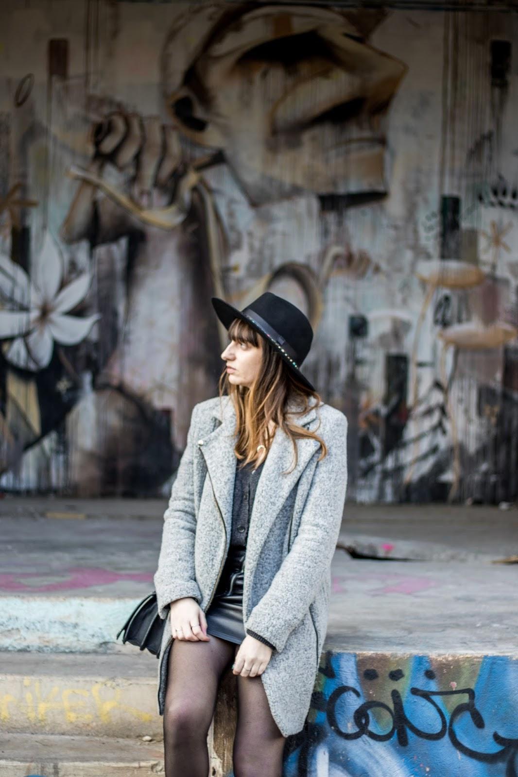porter châpeau noir blog mode