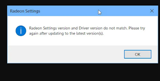 Cara Mengatasi Radeon Settings Version and Driver Version Do Not Match Error