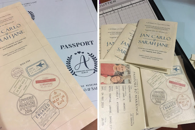 DIY Passport Wedding Invitation