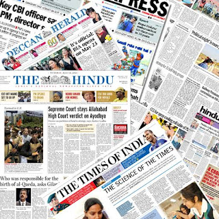 English newspapers of india.