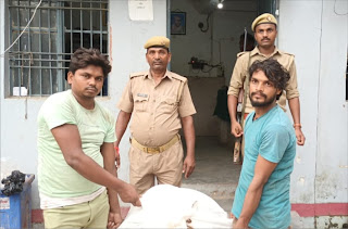 चोरी के माल के साथ दो अभियुक्त गिरफ्तार   #NayaSaberaNetwork
