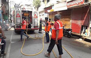 विभिन्न क्षेत्रों में किया गया सैनिटाइजेशन एवं सफाई कार्य | #NayaSaberaNetwork