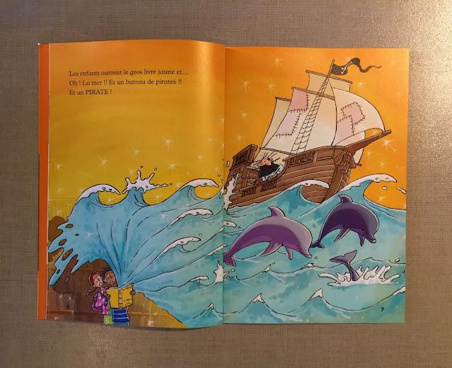 """Recenzje #184 - """"Mamie Pétronille et le pirate"""" - przykładowe strony bajki - Francuski przy kawie"""