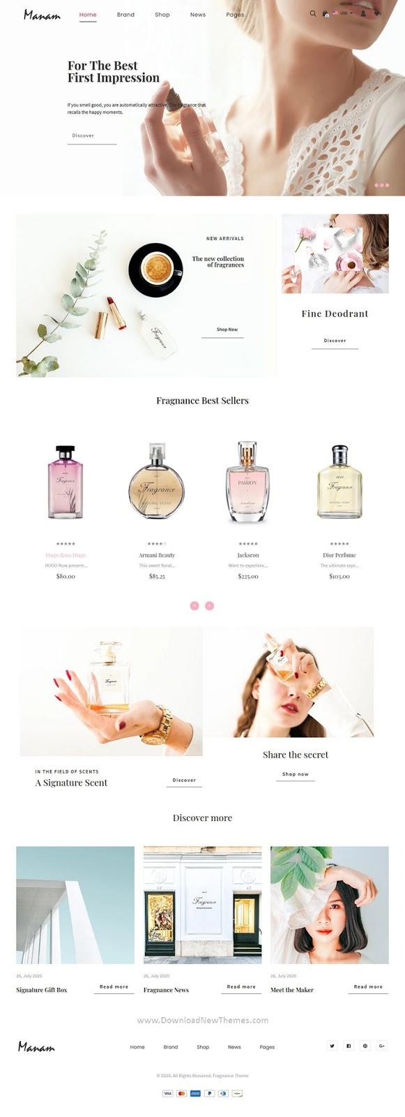 Perfumes, Cosmetic Shop Shopify Theme