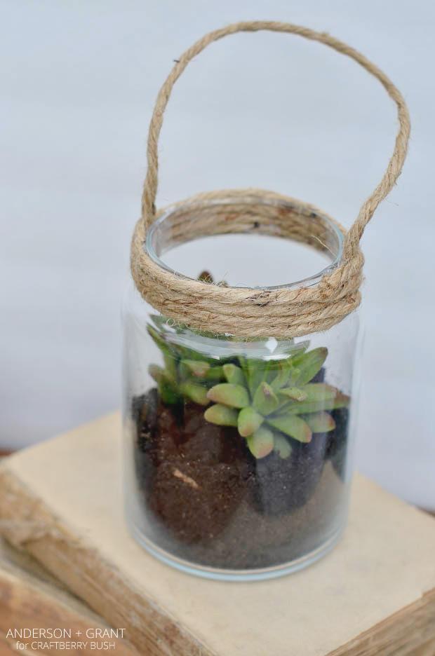 Diy Glass Lanterns Made From Repurposed Jars Anderson