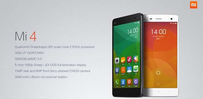 Smartphone Xiaomi Mi 4