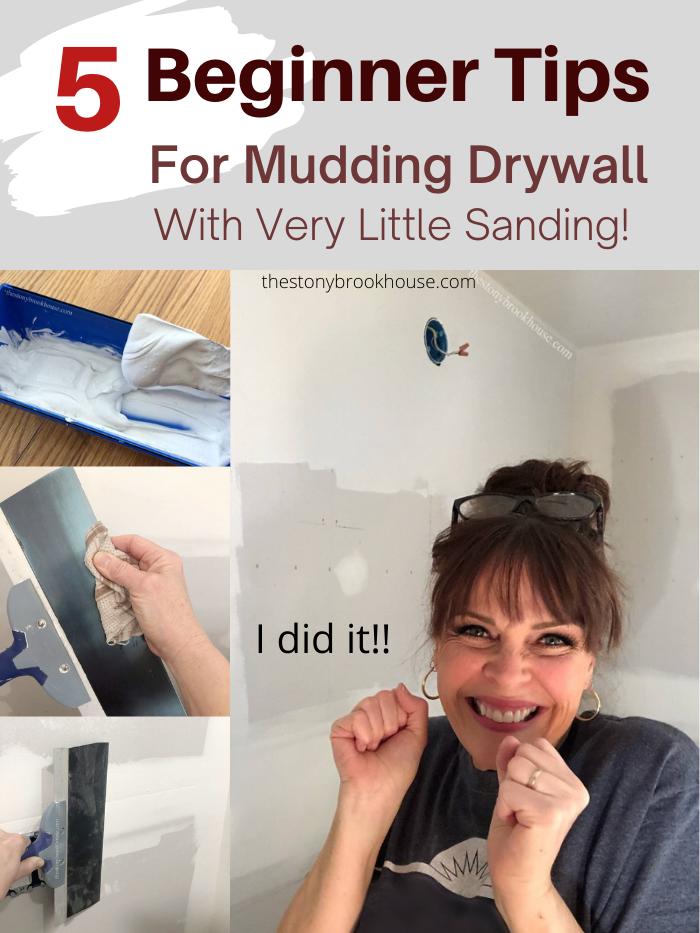 5 Beginner Tips for Mudding Drywall With Very Little Sanding