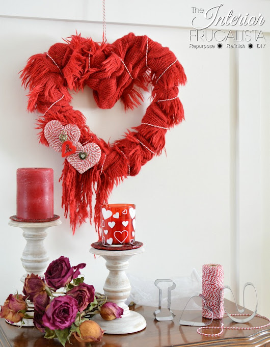 How to turn a scarf into an easy DIY Valentine's Wreath