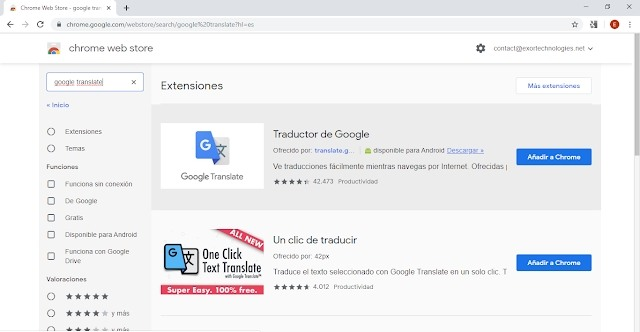 Como añadir google translate a chrome