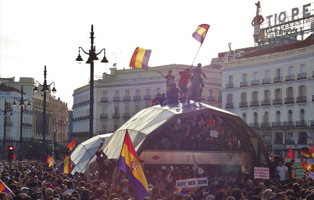 Manifestación republicana. Puerta del Sol