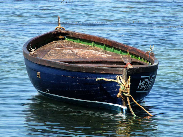 Boat in the sea, Antignano, Livorno