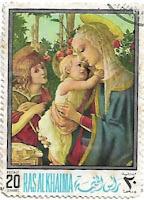 1968, Selo A Virgem com o Menino e São João Batista criança