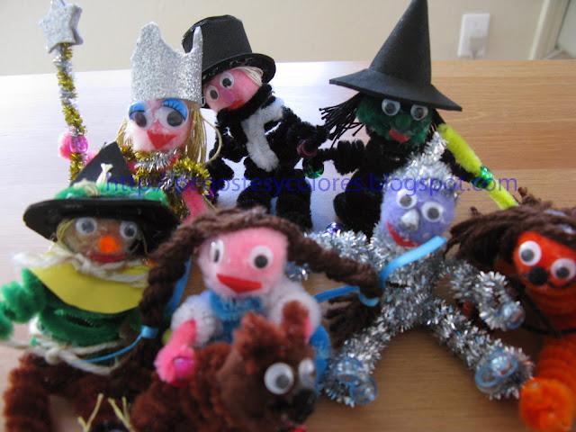 Pegostes y Colores: Títeres de Limpia Pipas de El Mago de Oz 1a Parte