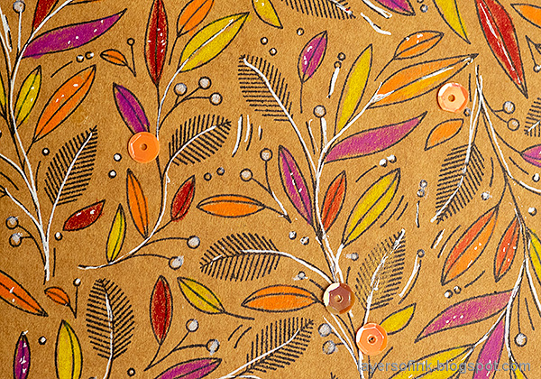 Layers of ink - Colored Pencils on Kraft Tutorial by Anna-Karin Evaldsson.