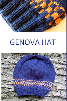 The Genova hat - a hat knitting pattern in stranded colorwork