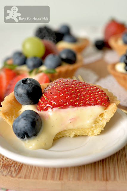 fail proof less sugar mini fruit tart