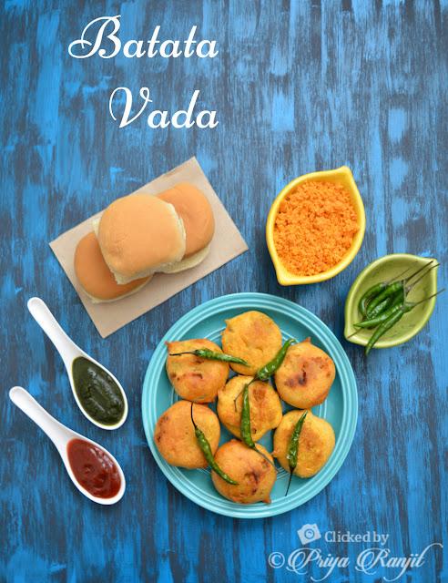 Mumbai Batata Vada for Vada Pav