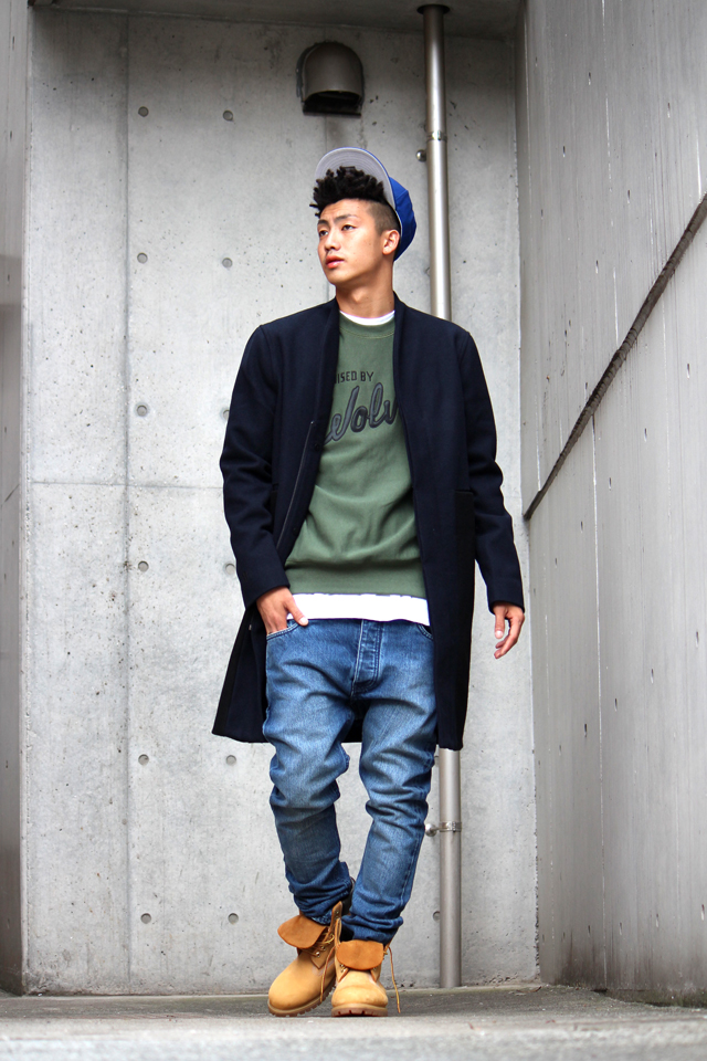 HAN - SQUARE TRENCH COAT - SIZE S - ¥73,440 (Han) HAN - DENIM PANTS LEAN FITTED - SIZE W30 - ¥24,840 (Han) STADIUM CUSTOM NEWERA METS OLD AUTHENTIC - ¥5,940 (STADIUM EXCLUSIVE) RAISED BY WOLVES - Sweat (Coming soon.....)