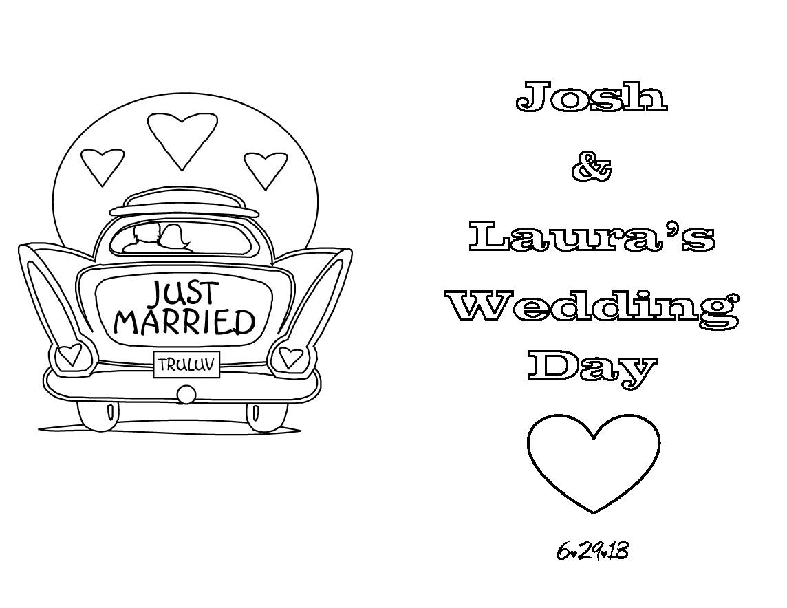 Coloring book wedding pictures - Wedding Activity Book For Kids