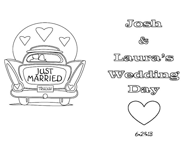 kids - Wedding Coloring Books For Children