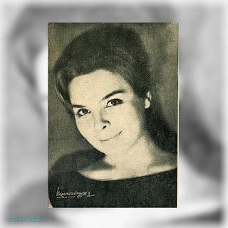 Η Δάφνη Σκούρα στο πρόγραμμα της θεατρικής παράστασης «Ο πραματευτής» (Γιώργου Ρούσσου, Ελληνικό Λαϊκό Θέατρο, 1963-1964)