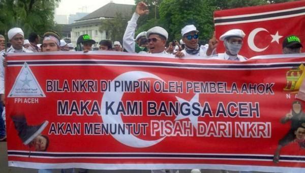 Bendera Bintang Bulan Pada Demo 4 November tak Ada Kaitan dengan GAM