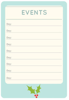 Holidays checklists - free printables