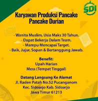 Walk In Interview at Syarif Durian Sidoarjo September 2021
