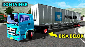 download mod bussid hino kontainer mod truck