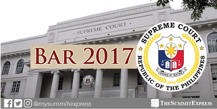LIST OF EXAMINEES: 7,227 to take November 2017 Philippine Bar Exam