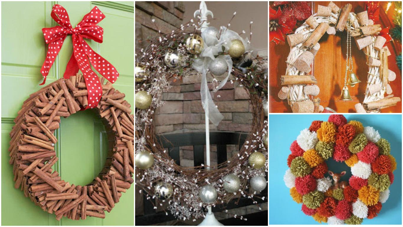 10 ideas para hacer coronas navide as mimundomanual - Como hacer decoracion navidena para el hogar ...