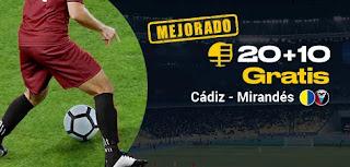 bwin promocion Cádiz vs Mirandés 15 enero 2020