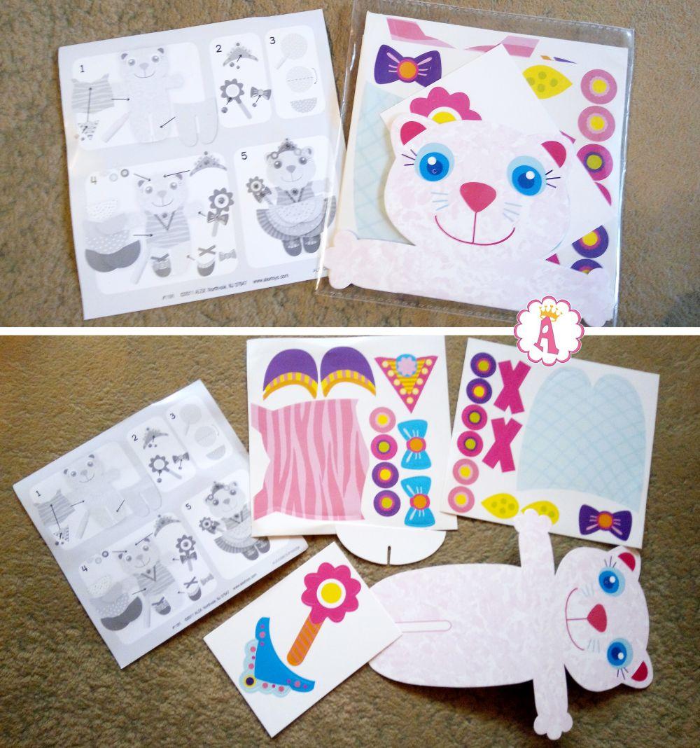 Кукла кошка из бумаги с одеждой своими руками Alex Pops Craft