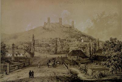 Zamek w Chęcinach na litografii Napoleona Ordy (1807-1883)