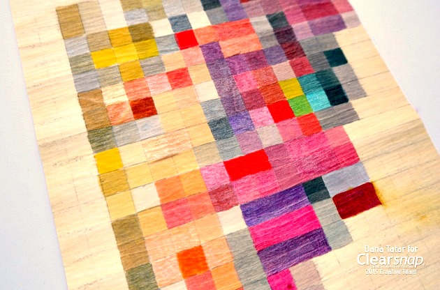 DIY Pixelated Heart Print with Izink by Dana Tatar for Clearsnap