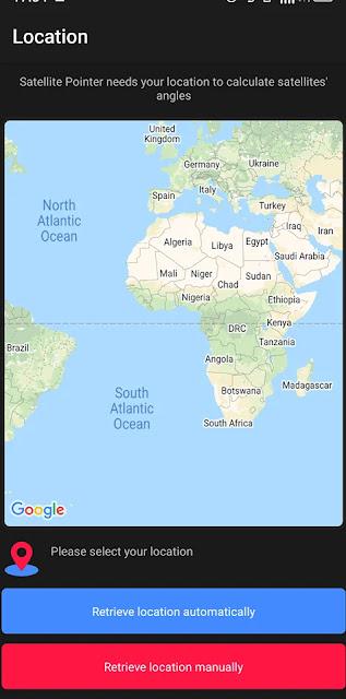 Satellite pointe