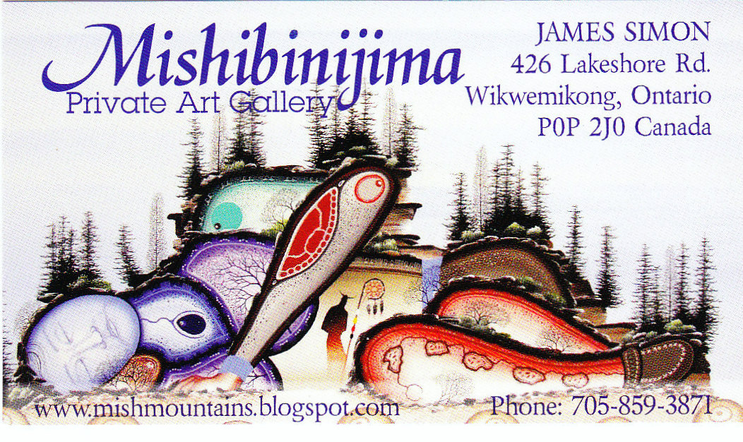 MISHIBINIJIMA BUSINESS CARD