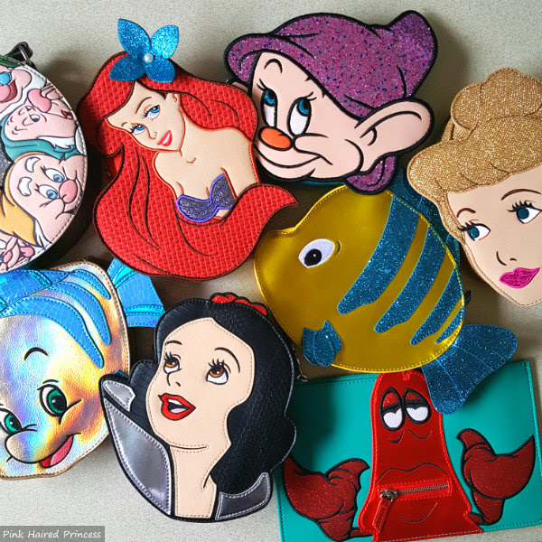 collection of Danielle Nicole Disney character handbags