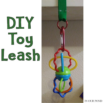 DIY Toy and Sippy Cup Leashes from In Our Pond   #diy  #kids  #baby  #5mincrafts  #sewing  #crafts  #travel  #car  #roadtrip  #travelwithkids  #roadtripwithkids  #roadtripwithbaby  #travelwithbaby #easy
