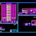 مخطط مشروع بنك متعدد الطوابق + قاعة اجتماعات اتوكاد dwg