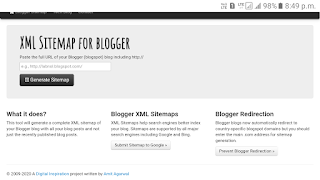 Sitemap generator for blogger