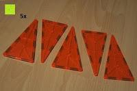 Dreieck groß orange: Playbees 100 Teile Magnetische Bausteine Set für 2D und 3D Form Konstruktionen, Regenbogenfarben Magnetspielzeug, Baukasten Magnetspiel, Magnetbausteine