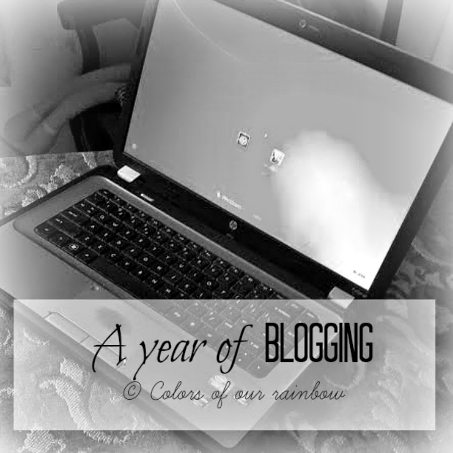 A year of Blogging © Colors of our rainbow