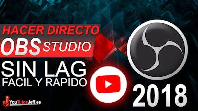 Directo en youtube, directo con obs, hacer un directo, tutorial, español, OBS, Obs studio