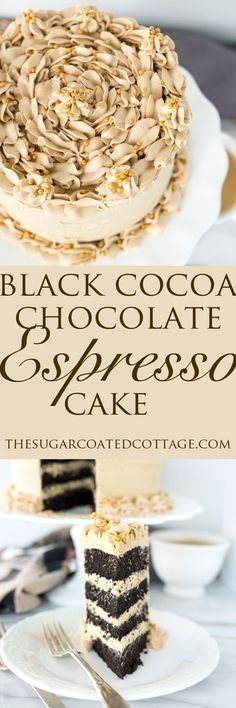 BLACK COCOA CHOCOLATE ESPRESSO CAKE