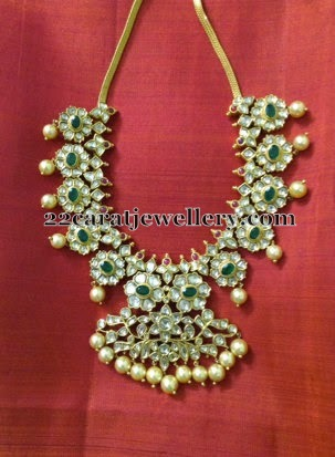 Emerald Polki Mango Necklace