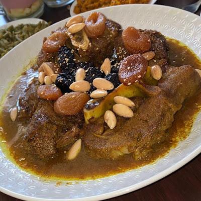اللحم بالبرقوق على الطريقة المغربية