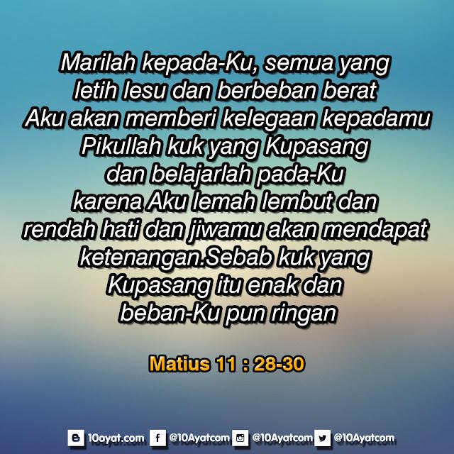 Matius 11: 28--30
