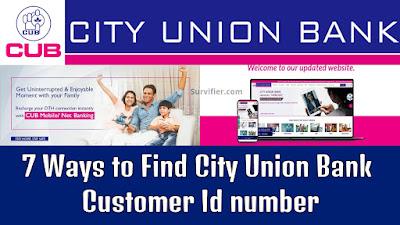 City Union Bank Customer Id