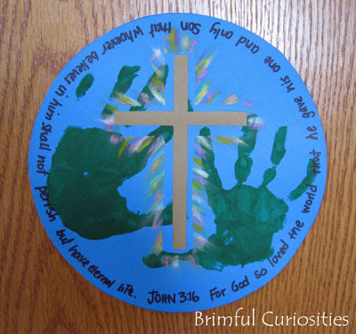 Brimful Curiosities In His Hands John 3 16 Easter Craft